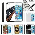 For Apple iPhone SE| iPhone 5| iPhone 5s| Slim Fit Hard 2 Piece Case Guns