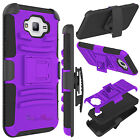 For Samsung Galaxy J7 J700 Phone Case Hybrid Rugged Matte Holster Stand Cover