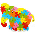 Educational Funny Wooden Blocks Animals Kid Children Toy Alphabet Puzzle Jigsaw