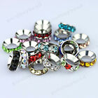 Big Hole Czech Crystal Rhinestone Rondelle Fashion Beads Fit European Charm 10mm