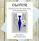 PERSONALISED THANK YOU FOR GIVING ME AWAY CARD ANY COLOUR TIE MULTI