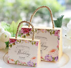 10-200X Spring Flower Wedding Party Favour Sweet Gift Boxes Bags Handbags String