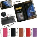 Flip Leather Wallet  Magnetic Photo Card Holder Case Cover For Samsung Galaxy