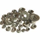 A2 Stainless Hexagonal Serrated Flange Nuts - M3 M4 M5 M6 M8 M10 M12 Metric Nuts
