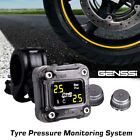 GENSSI TPMS Motorcycle Wireless Tire Pressure Monitoring System Digital LCD