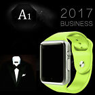 US A1 Smart Watch Bluetooth Waterproof GSM SIM Cam Android For iOS Phone Fitness