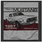 Ford Mustang Fastback Ad 60's Retro American Classic grey Shirt Ideal Gift