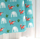 Fox and elephant 100% Cotton Fabric Animal Quilting offcuts (ffB375)>