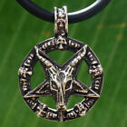 Sigil of Baphomet Laveyan Goat inverted pentacle star pentagram pewter pendant