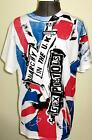 Sex Pistols Anarchy in the UK T-shirt Union Jack Punk Flag Inside Out Tee - New