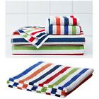 IKEA BANDSJON - Bath Sheets and Washcloths Multicolored Striped Cotton