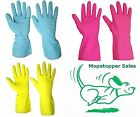 10 Pairs Houshold / Washing Up Food Safe Rubber Gloves - Size & Colour Choice