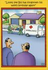 Forgot Wife's Birthday Funny Stan Eales Birthday Card by Nobleworks