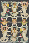ANGELS CHRISTMAS BANNERS BUSTS GARLAND FLORAL CANDLES GERMANY SCRAP  EMBOSSED