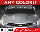 """2011 Style Chevy Camaro """" Outline"""" Rs Ss Windshield Decal Sticker 46""""w X 4""""h"""