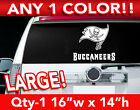 """TAMPA BAY BUCCANEERS WORD/FLAG LARGE LOGO DECAL STICKER 16""""w x 14""""h ANY 1 COLOR $19.99 USD on eBay"""
