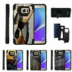 For Samsung Galaxy Note 5| Dual Bumper Case Kickstand Hunting