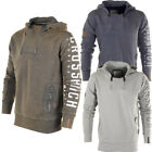 Crosshatch Double Zip Up Neck Sweat Hoodie  Mens Size