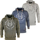 Crosshatch Leaves Logo Print Washed Hoodie  Mens Size