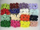 96 x 6cm Colourfast Artificial Foam Rose. Wedding/Craft Flowers 16 bunches of 6