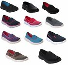 WOMENS LADIES GO WALK SHOES SPORT GYM SOFT FOAM LIGHT SLIP ON CASUAL TRAINERS