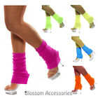A485 Leg warmers Legwarmers Ankle Warmers 80's 1980s Party Neon Fluro Knitted