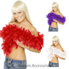 Deluxe Feather Boa 180cm Burlesque Flapper Scarf 20s Costume Accessories