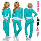 Sexy Women's European Tracksuit Set Active Sports Gym Jogging Wear Pants Jacket