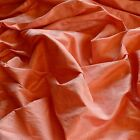 "Iridescent Coral Pink Dupioni 100% Silk Fabric 44""/54"" Wide, By The Yard (S-138)"