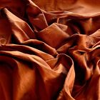 "Iridescent Rust Dupioni 100% Silk Fabric, 44""/54"" Wide, By The Yard (S-185)"