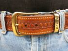 Azula Leather Lined Gun Belt Concealed Carry W/ Brass Buckle CCW . Choose Size