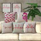Pillow case Cotton Blend with Flamingos Pattern Home Decor Cushion Cover
