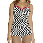 Fantasie Montego Bay Bandeau Flared Tankini Top Black/Cream 5980 NEW Select Size