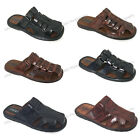 Mens Slides Sandals Closed Toe Hook and Loop Flip Flops Casual Fisherman Slipper