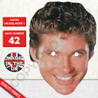 David Hasselhoff 1980's Celebrity Card Mask - Fun 4 Parties New