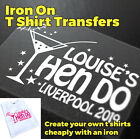 Iron On Transfer HEN PARTY HEN NIGHT HEN DO | C1
