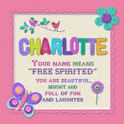 PERSONALISED ART PRINT BOYS GIRLS NAMES FRAMED WITH MEANING 18X18CM HEARTFELT