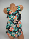 Victoria Secret PINK Tank Top Muscle Tee  Tropical Floral Black Sleeveless NEW