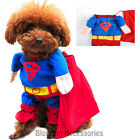 PC6 Superman Pet Dog Cat Puppy Clothes Coat Jacket Cute Hero Costumes Outfit