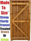 Garden Close Board Feather Edge Gate - Treated Brown - Strong & Solid