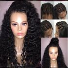 Bleach knots Brazilian loose wavy remy human hair full lace wig with babay hair