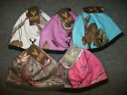 Ladies Hot Shot CAMO Realtree One Size Stretch Beanie Hat fleece lining CoLoRs!