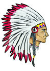 Indian Big Chief Head Western Decal Sticker - Auto Car Truck RV Cell Cup Boat