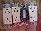 NEW Leviton OC57SA Lot of 4 Ivory Duplex Receptacle Outlets *FREE SHIPPING*