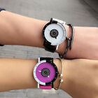 Fashion Couples Womens Mens Watches Casual Stainless Steel Leather Wrist Watch