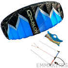 Blue 2m² Quad Line Trainer Traction Kite with Set for Kitesurfing Kiteboarding