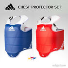 Adidas TaeKwonDo Chest Protector Set Red one + Blue one WTF Approved TKD Guards