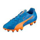 Puma Jr EvoSpeed 4 H2H FG Orange Clown Fish/Electric Blue Lemonade 103728 01