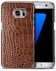 Fitted Case For Samsung Galaxy S7 EDGE Real Leather Luxury Crocodile Style Cover