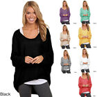New Women Ladies Loose Sweaters Long Sleeve Shirt Blouse Baggy Tops New Sale
